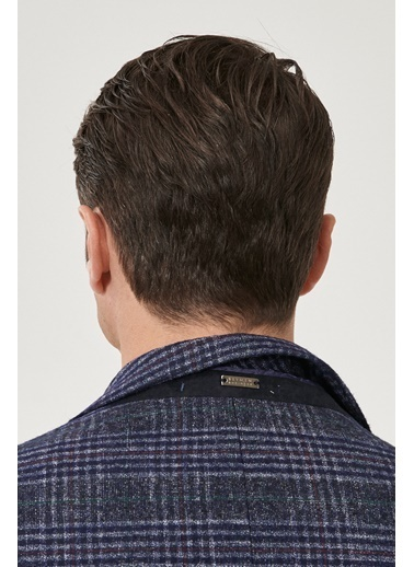 Beymen Business Slim Fit Desenli Ceket 4B0421100016 Lacivert